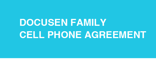 Docusen Family Cell Phone Agreement